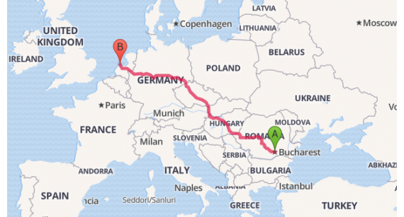 Colectare porumbei pe ruta România - Ungaria - Austria - Germania - Belgia și retur