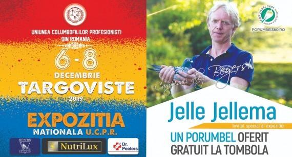 Expoziția Națională a U.C.P.R. și-a continuat tradiția și, cu sprijinul porumbei360.ro - importatorul oficial al Beyers în România, l-a avut în 2019 ca invitat special la Târgoviște pe Jelle Jellema