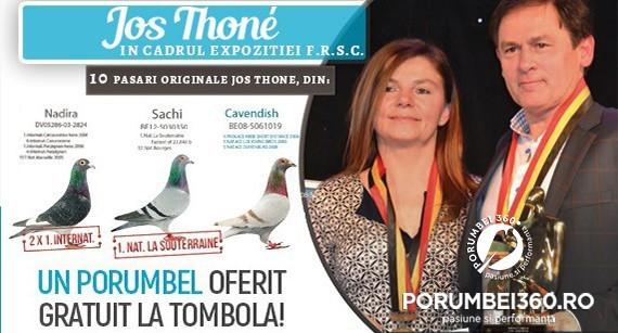 Jos THONE vine in Romania la Expozitia FRSC