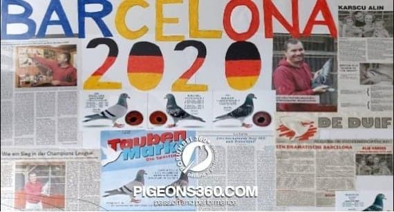 Alin Karscu flutura tricolorul peste Europa columbofila la Barcelona 2020