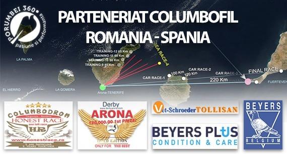Activarea porumbeilor pt Derby Atlantic Arona Tenerife